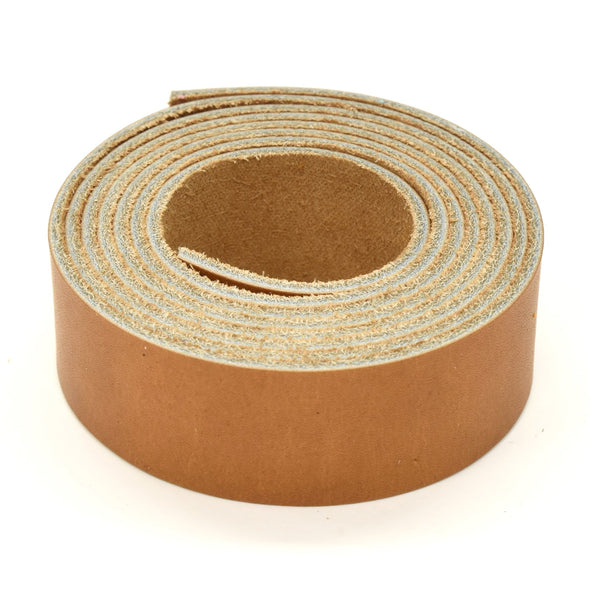 "Oil Tanned Leather 54"" Strap Various Colors and Widths 4-6 oz, El Capitan Light Brown / 1"
