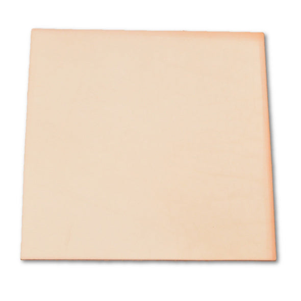 "Pre-cut Natural Leather Cow Hide Vegetable Tan Seconds 12"" x 12"" 7-8 oz smooth,"