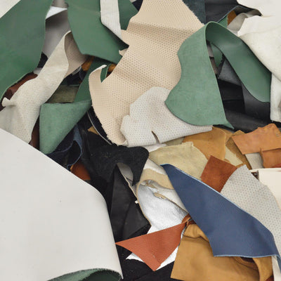 Color Mix Scrap leather 1 pound Small craft pieces Random assortment 1-4 ounce,