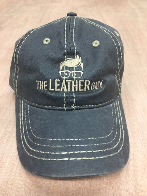 The Leather Guy Oiled Black cap,