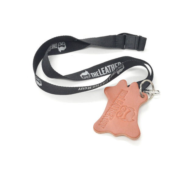 Leather Guy SWAG Exclusive - Embossed Leather Key Chain - Black,
