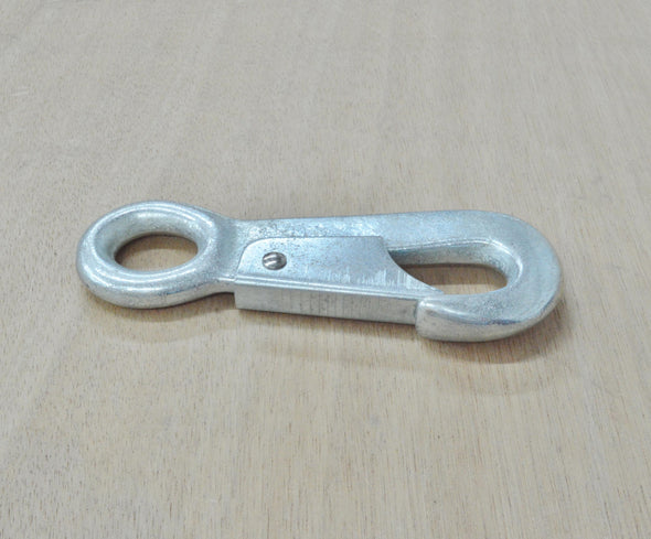 "4 3/4"" Solid Rope Snap Zinc Plated Iron Hardware,"