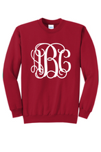 Load image into Gallery viewer, Classic Christmas Monogrammed Sweatshirt