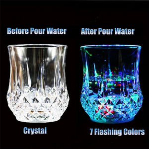 Automatic Water Activated Colorful Flashing LED Beer Glow Wine glass