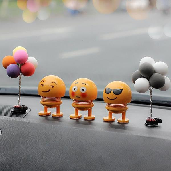 Emoticons pack cars with funny little figurines-upholstery