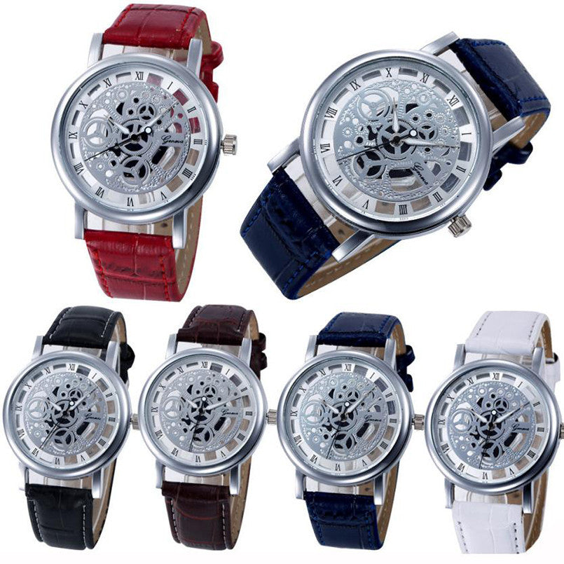 Alloy & Leather Men's Quartz Watch