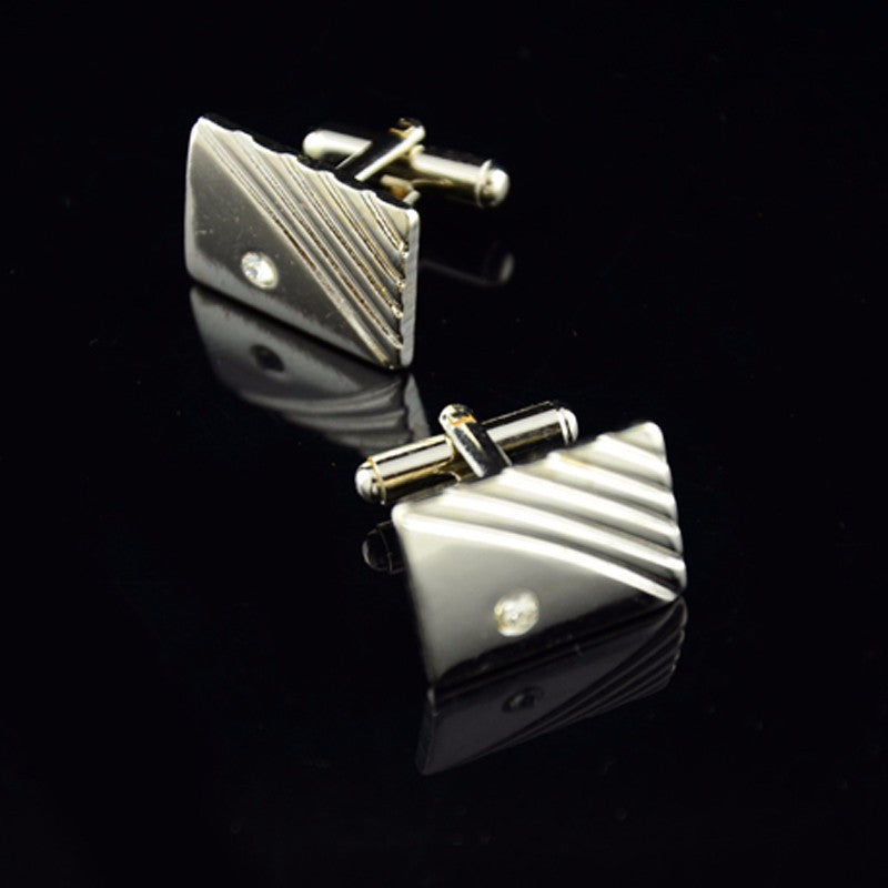 Men's Luxury Cuff Links & Tie Clip Combo