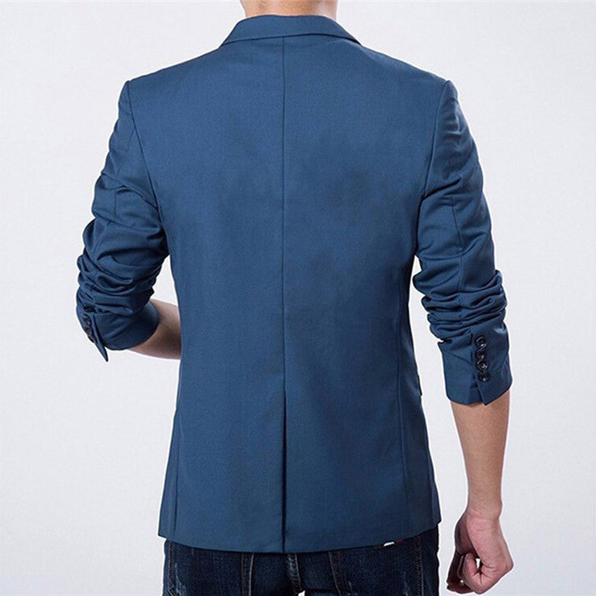 Men's Blazer (Blue/Black/Gray)