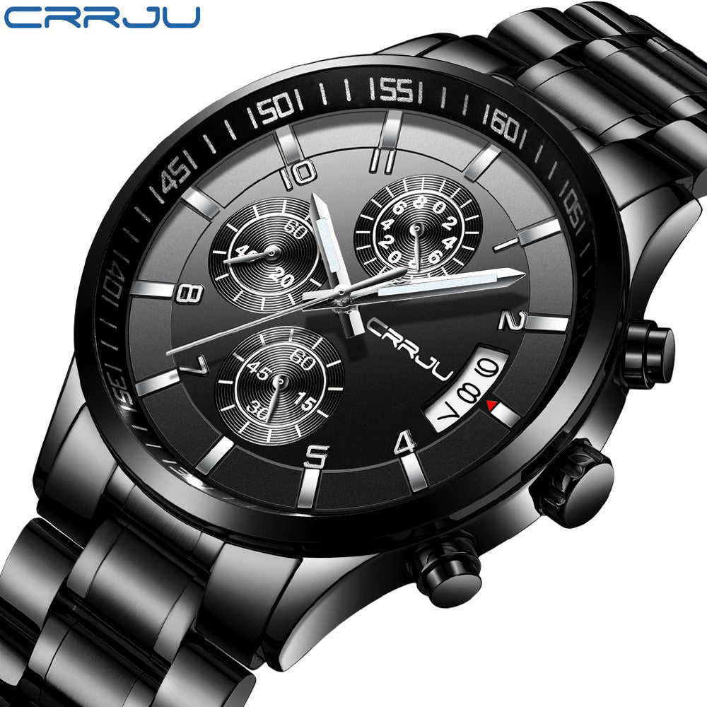 Men's Luxury Waterproof Chronograph Watches (Assorted Colors)