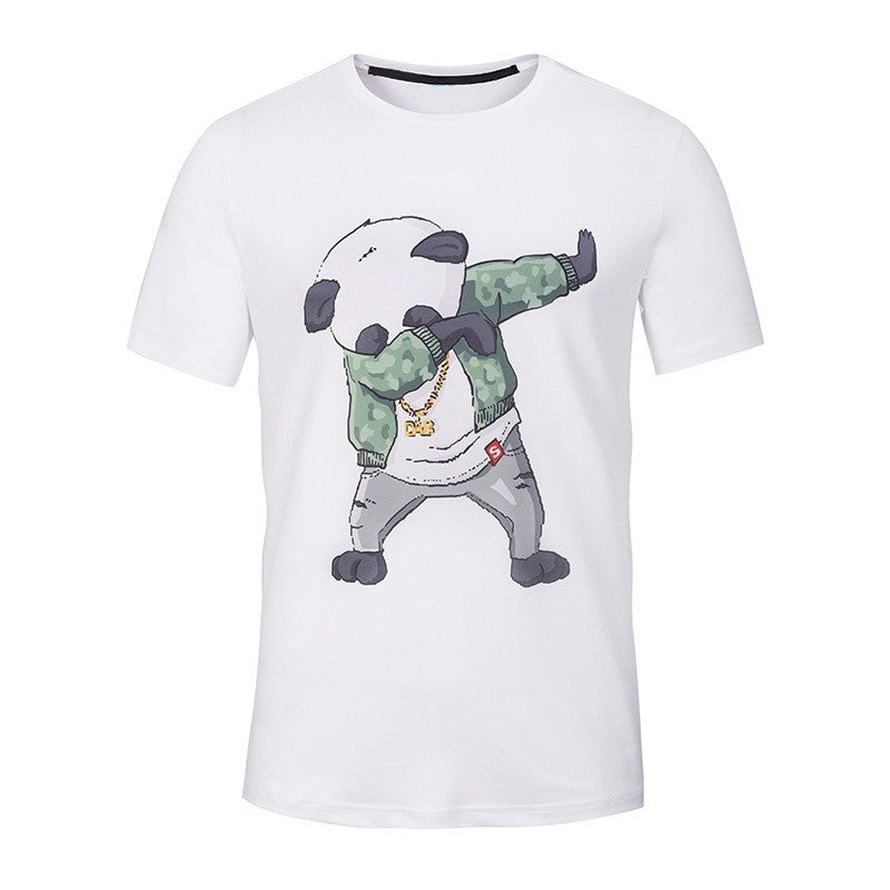 100% Cotton Panda Dab Print Men's T Shirt