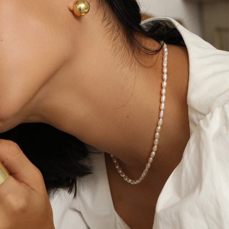 Small pearl necklace choker gift ideas