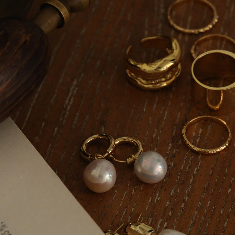 Vintage Pearl Mini Hoops earrings gift ideas