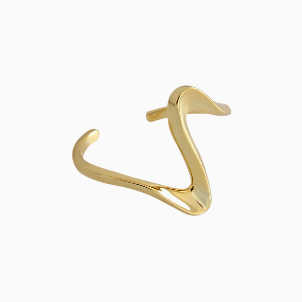 Wave Ring Adjustable gold