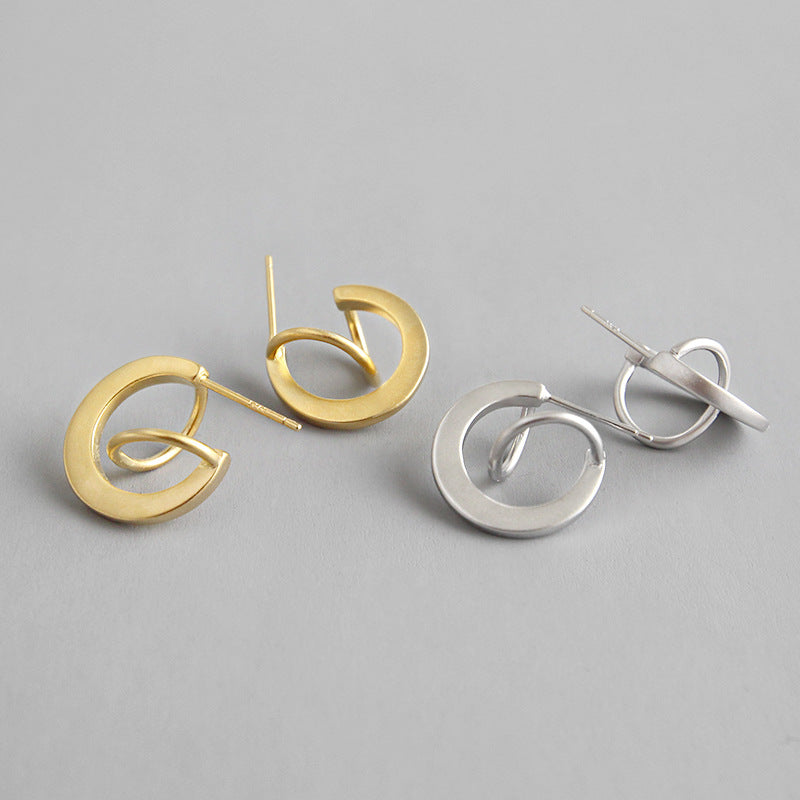 Planetary Trajectory Stud Earrings hoops gift for her