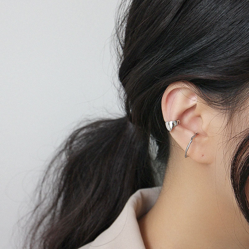 High Polished Minimalist sterling silver Ear Cuffs