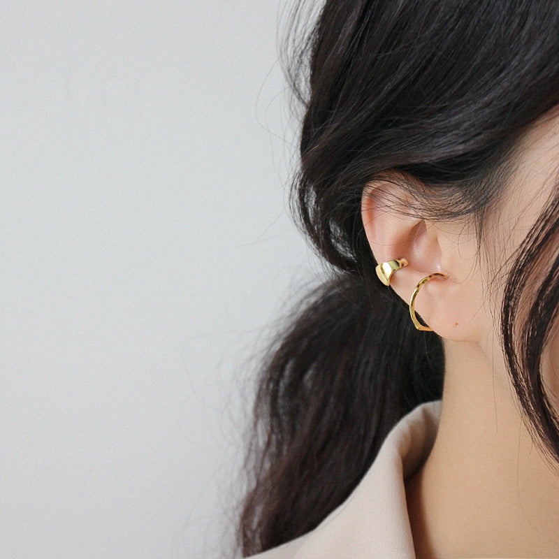 Helix Cartilage Earrings Minimalist Ear Cuffs Gold Plated