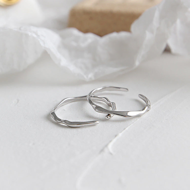 Irregular Thin Ring Adjustable Sterling Silver