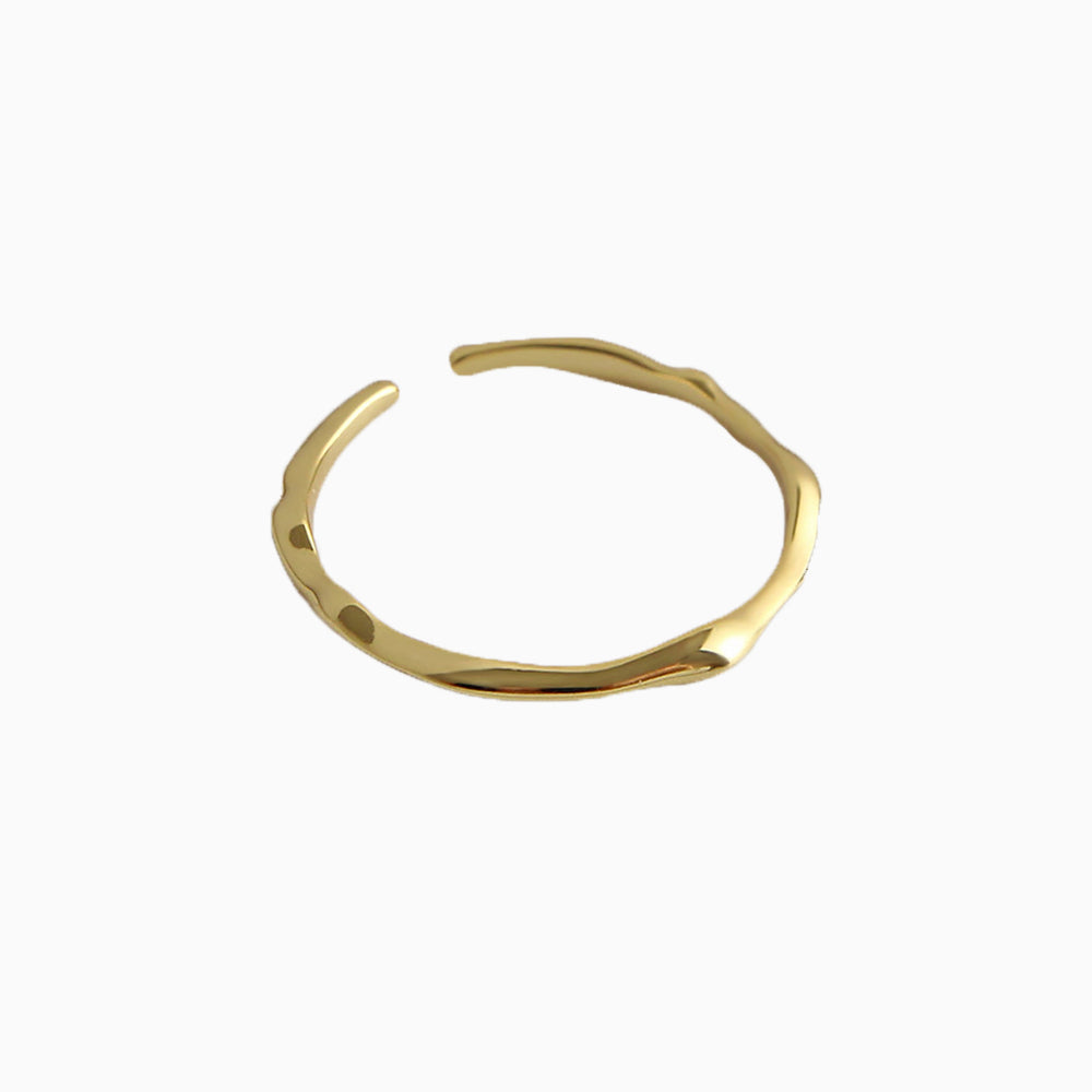 Irregular Thin Ring Adjustable Gold