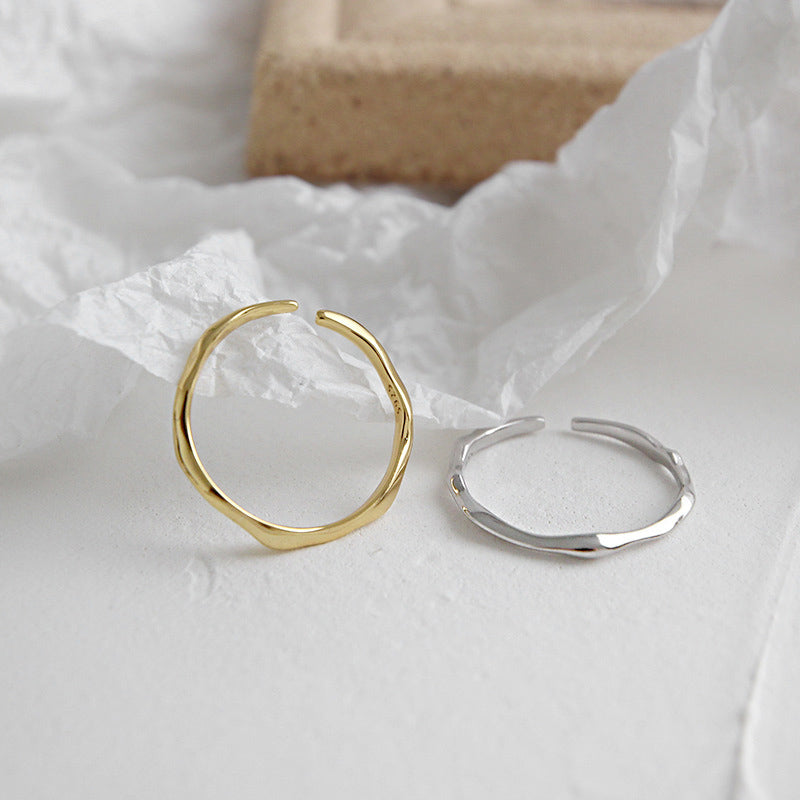 dainty Adjustable Irregular Thin Ring stackable ring
