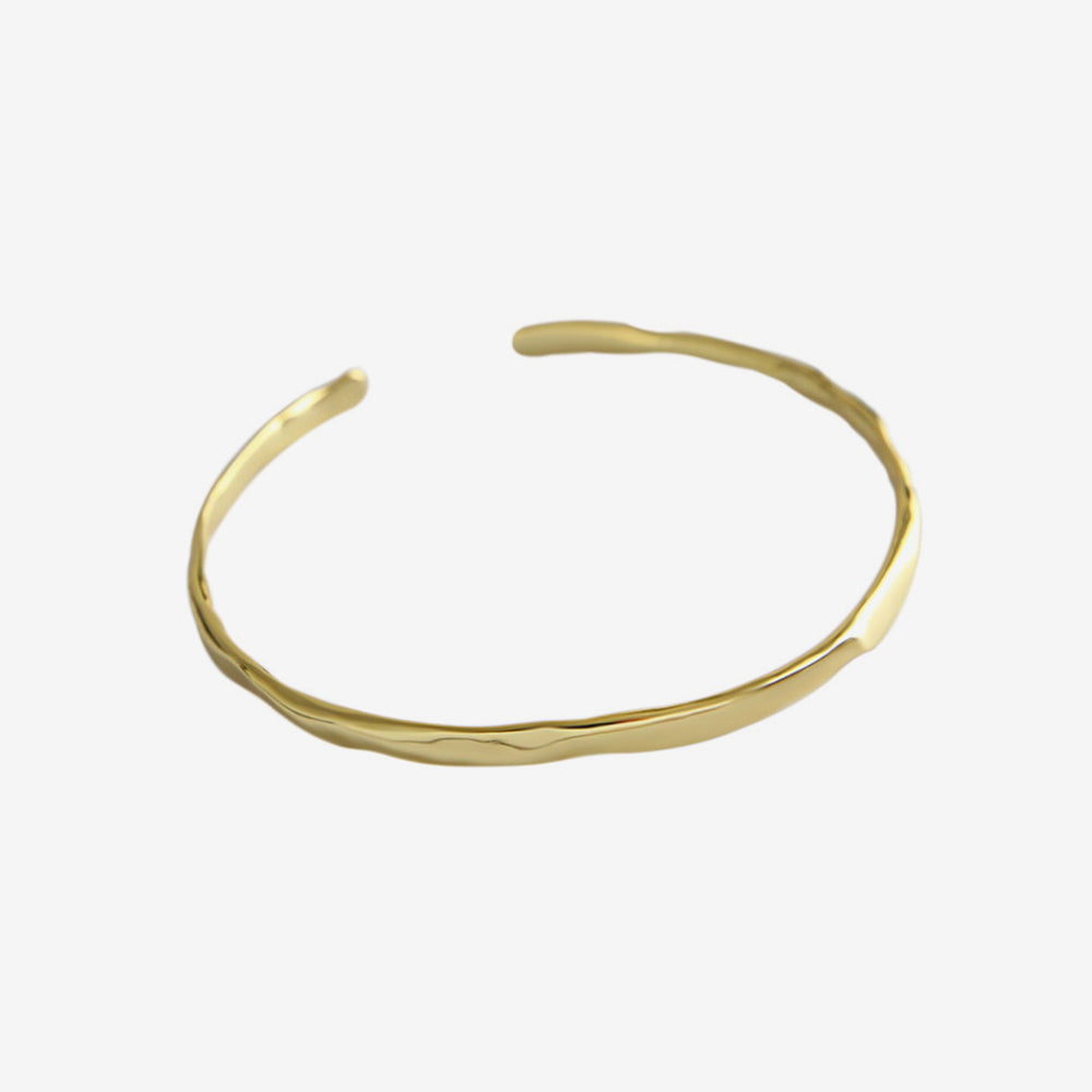 Irregular Surface Bangle gold plated