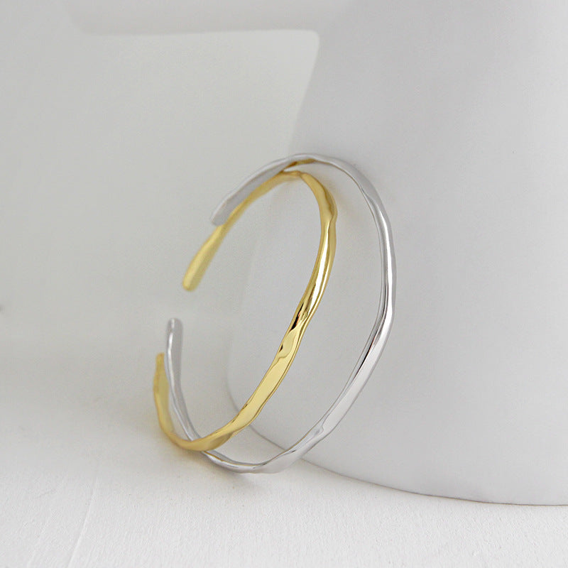 Irregular Surface Bangle women dainty bracelet giftideas