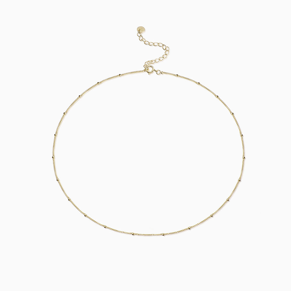 Satellite Chain Choker Necklace gold