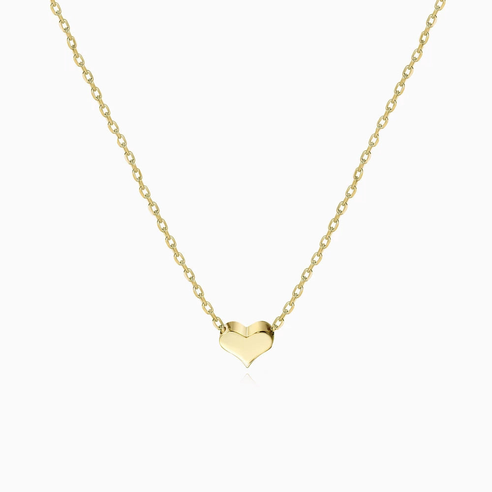 Tiny Heart Necklace gold
