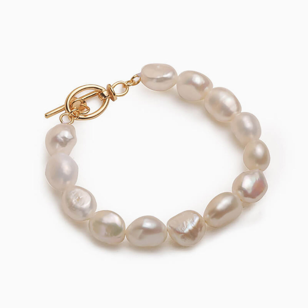 S.leaf Vintage Baroque Pearl Bracelet for women