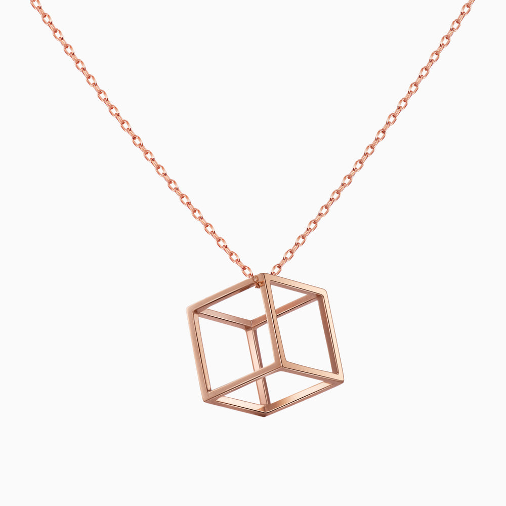 dainty Hollow Cubic pendnat Necklace for women