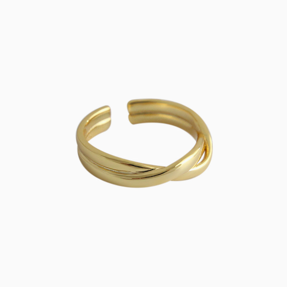 Weave Interwoven twist female ring for women