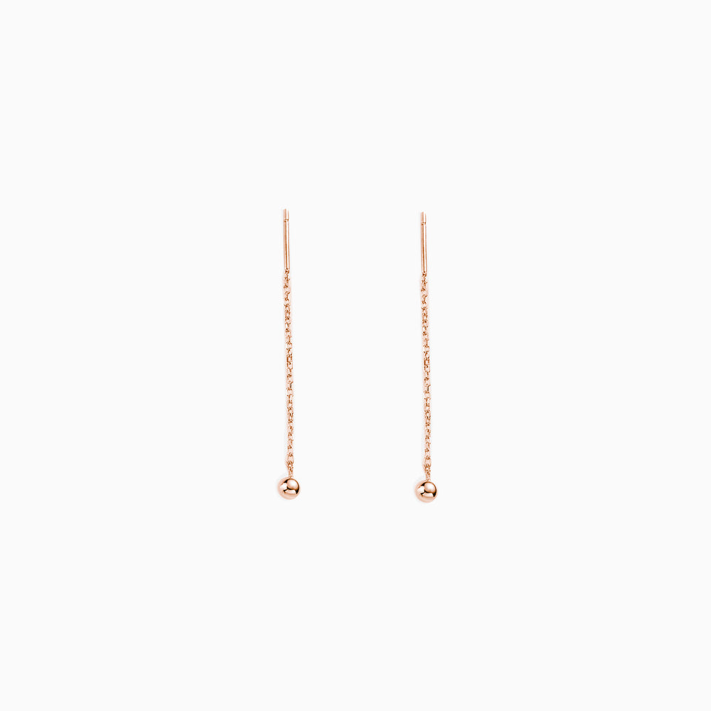 Tiny Ball Threader Earrings