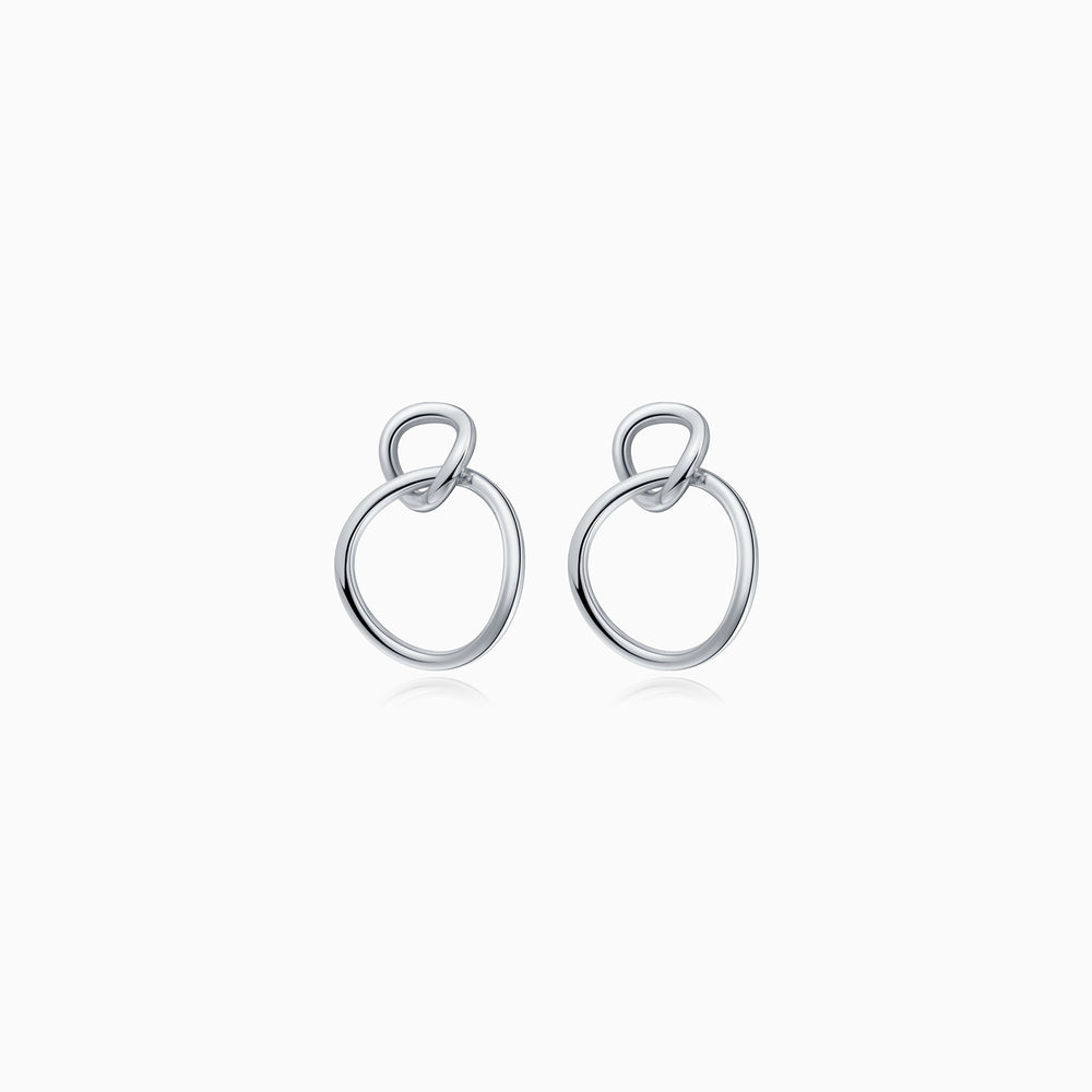 circle dangle earrings sterling silver