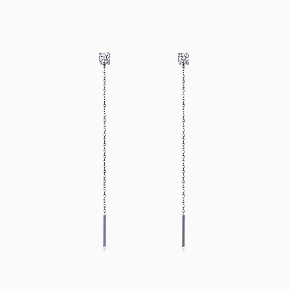 long CZ Threader Earrings 6cm gift ideas