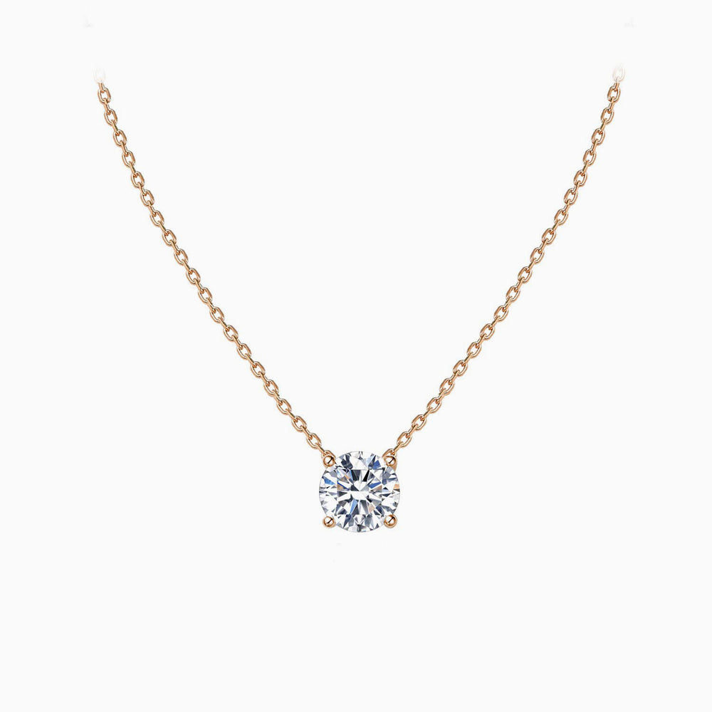 cubic zirconia Swarovski necklace rose gold for women