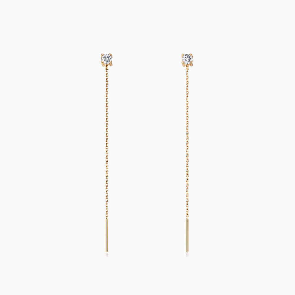CZ Threaders everyday Earrings