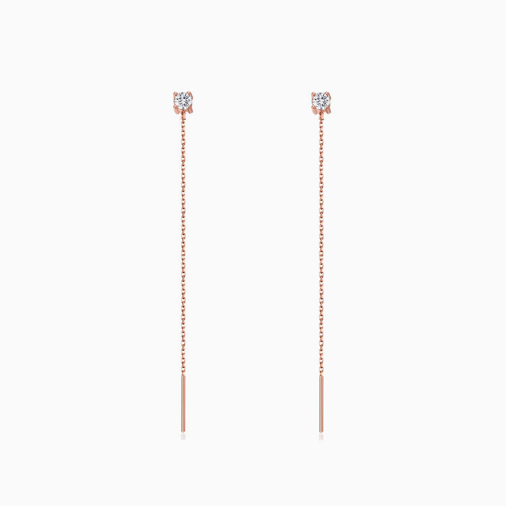 CZ shining Threader Earrings minimalist earrings