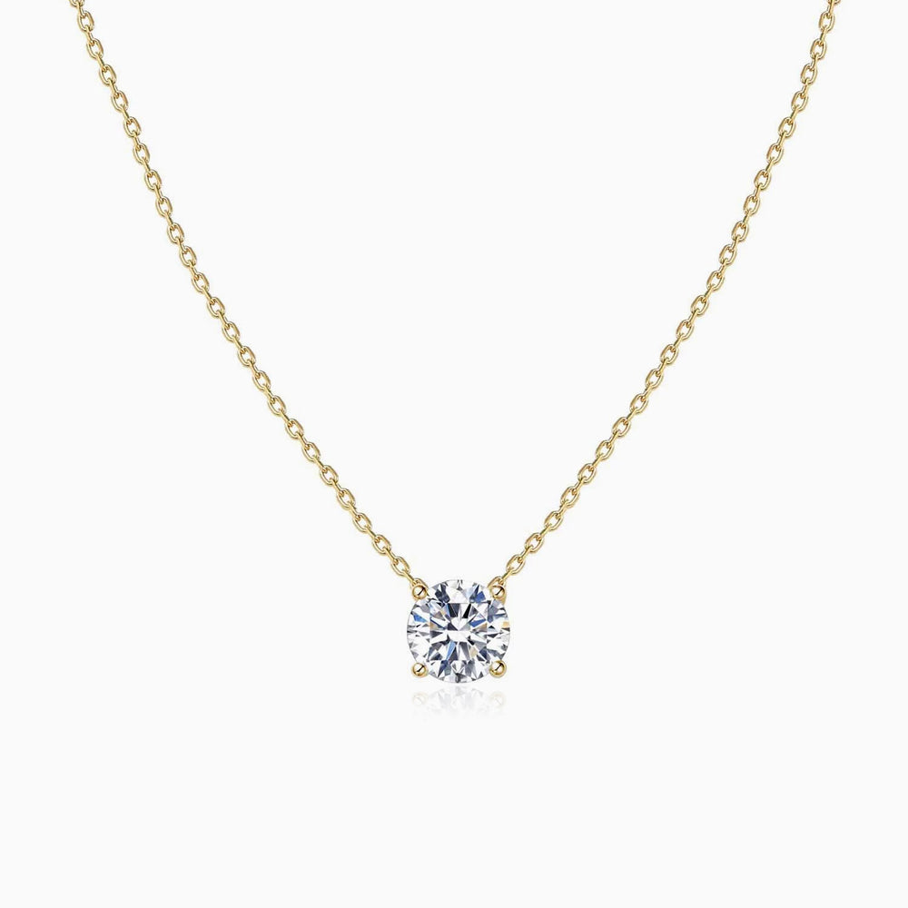 simple solitaire necklace Swarovski Crystals