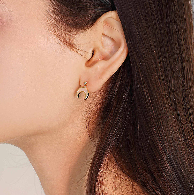 Mother of Pearl Moon Earrings