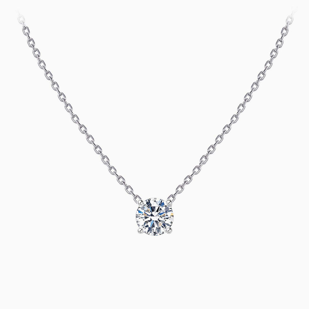 simple cubic zirconia Swarovski crystal necklace sterling silver