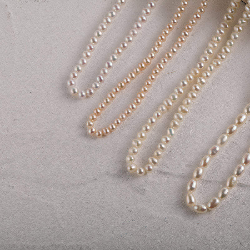 Tiny Natural pearls necklaces Christmas gifts