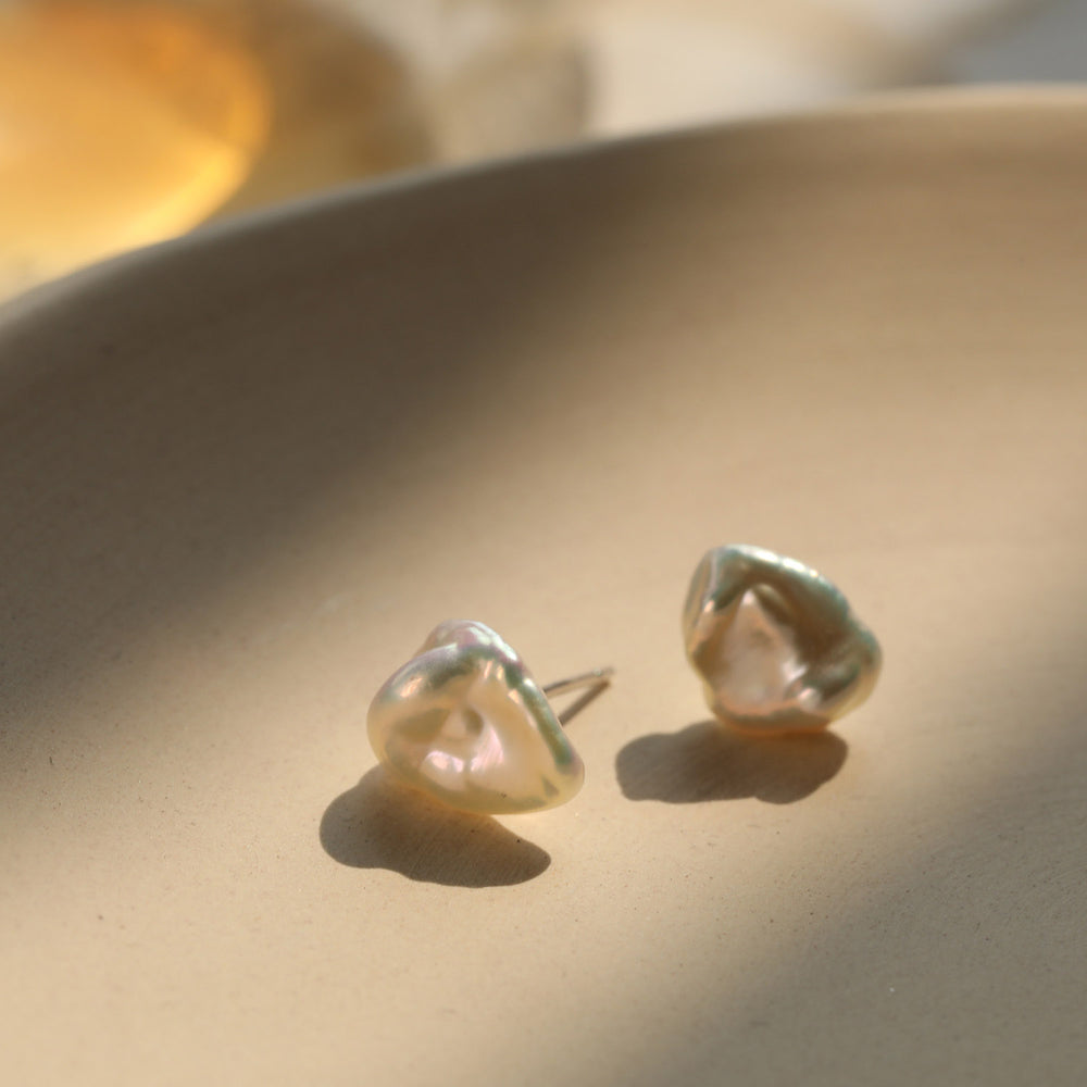 minimalist natural Baroque Pearl Earrings gift ideas