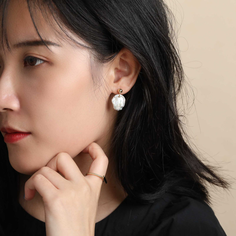 Nature Baroque Pearl Earrings