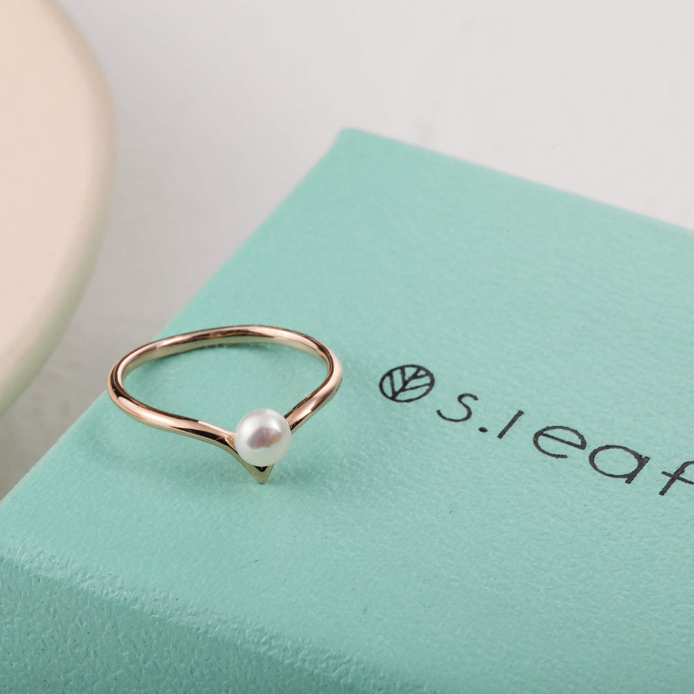 S.Leaf Chevron Ring