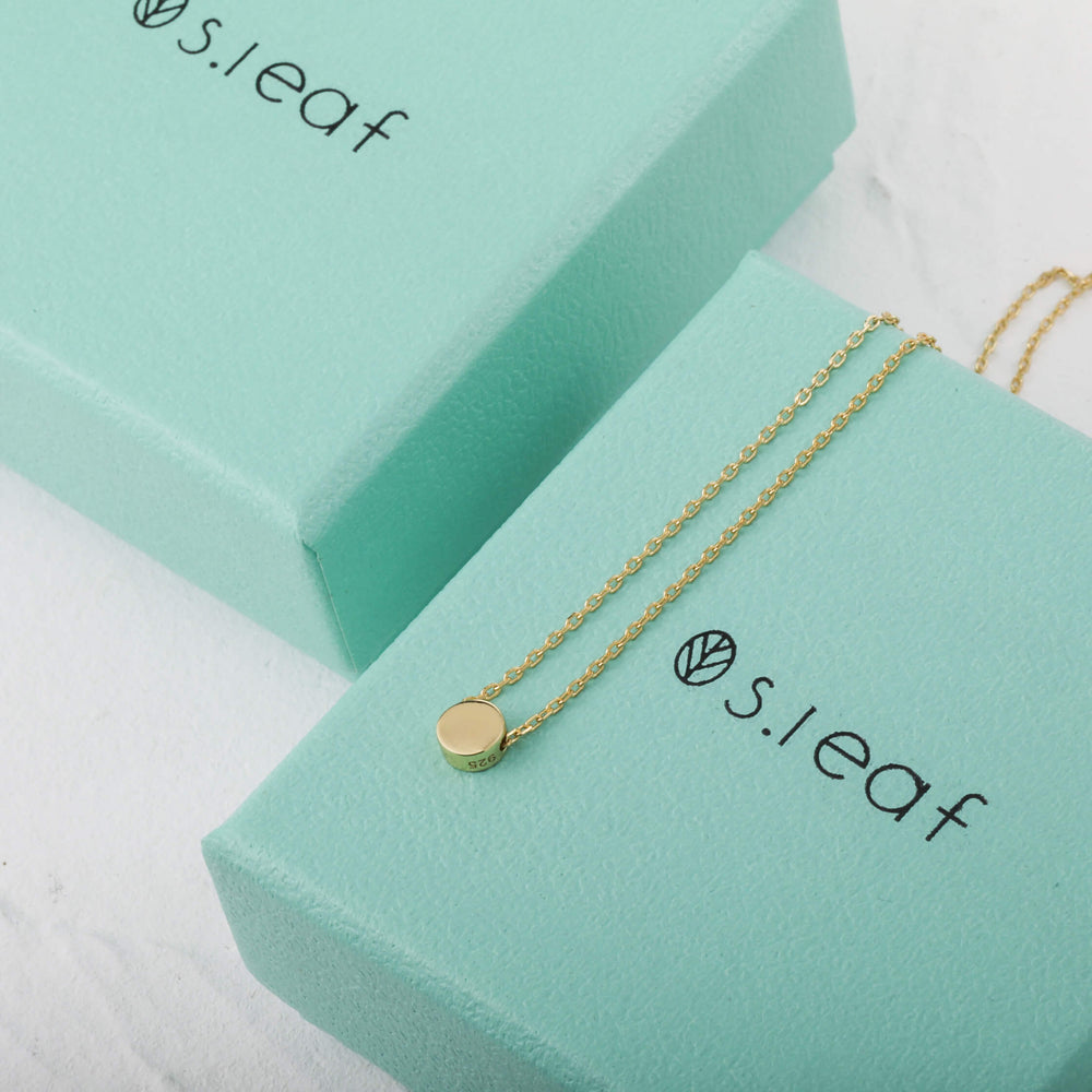S.Leaf Dot Necklace