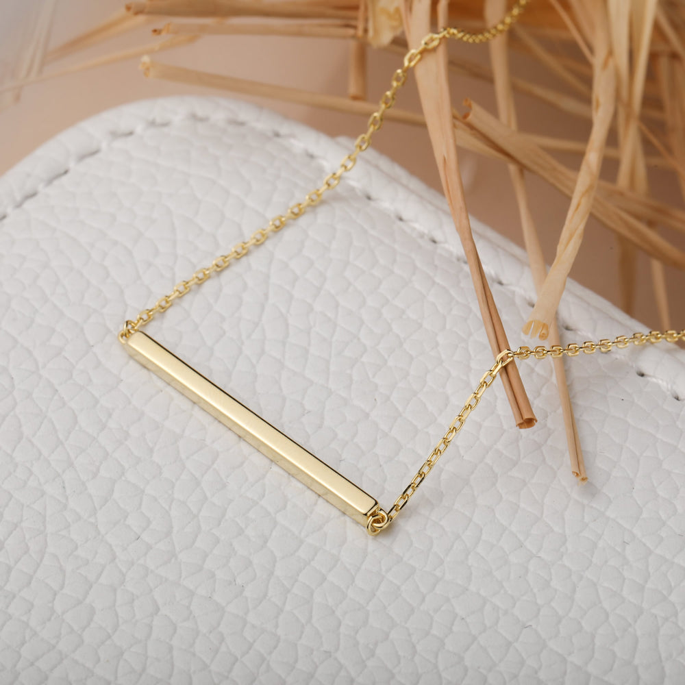 Bar pendant Necklace gift ideas