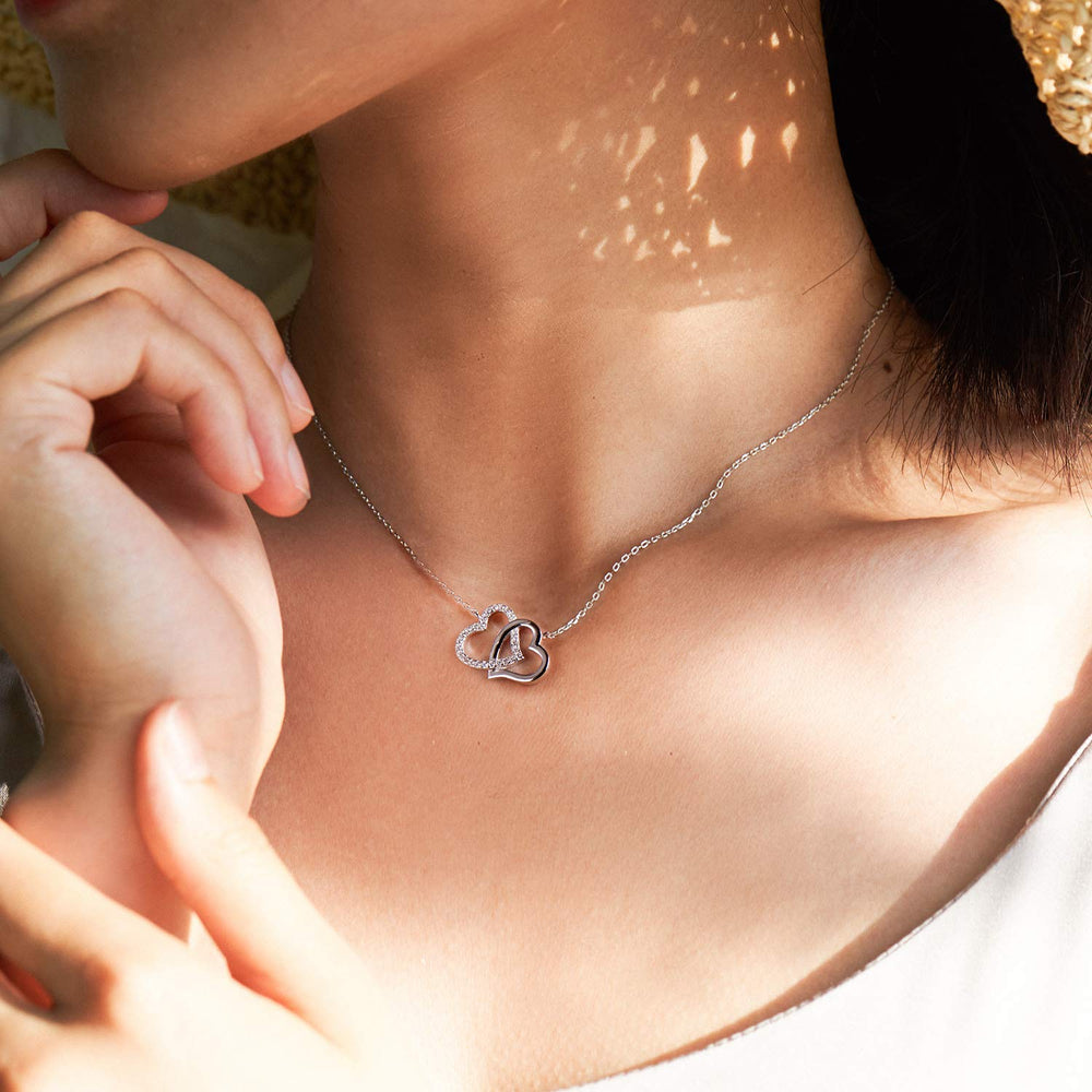 Swarovski heart necklace for women gift