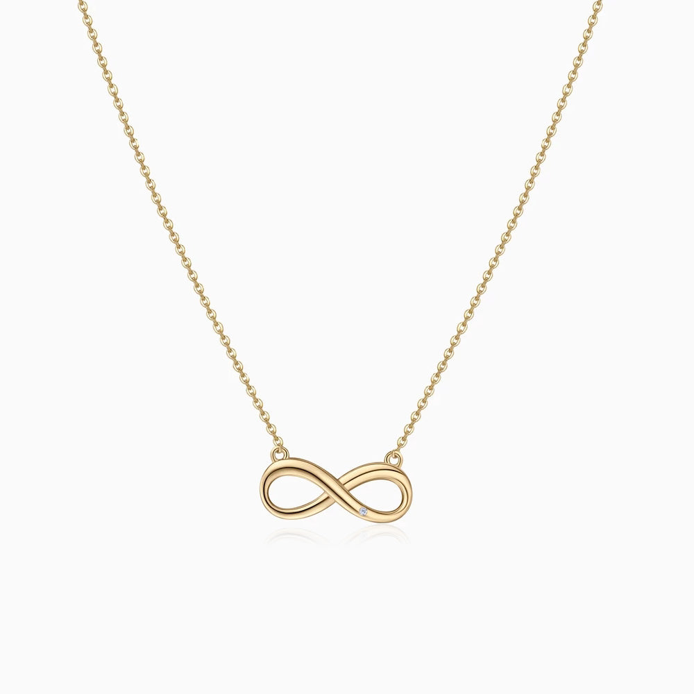simple Infinity Necklace gold