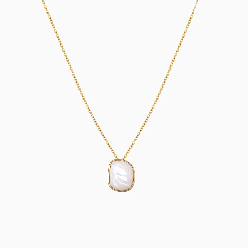 Mother Of Pearl Irregular Shape pendant Necklace