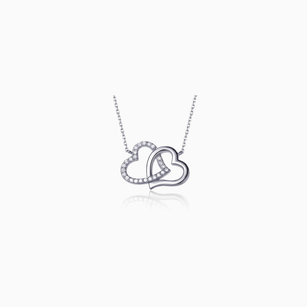 Swarovski crystal heart necklace sterling silver