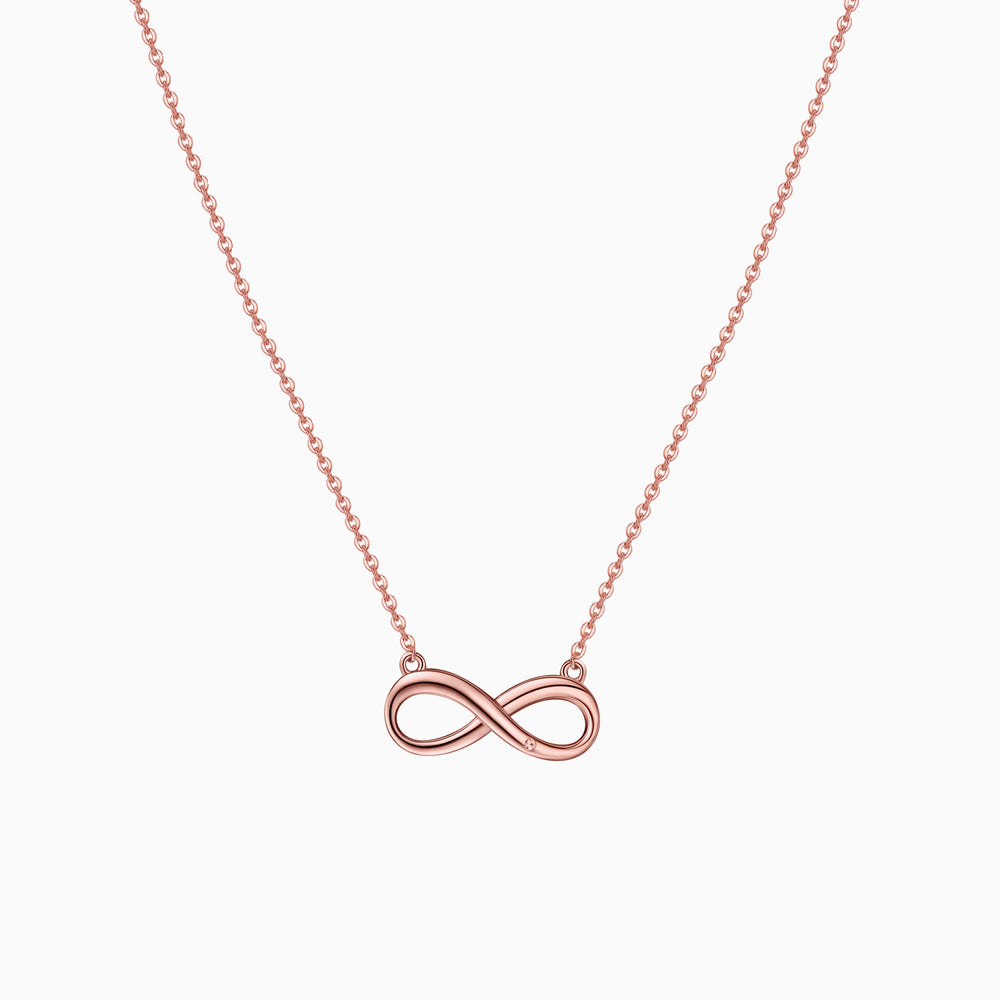 Infinity Necklace sterling silver rose gold plated
